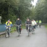 Start der Radtour bei Nieselregen